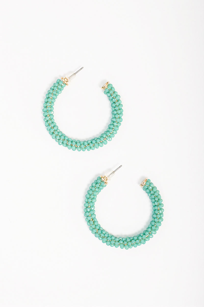 Wirewrapped aqua hoops