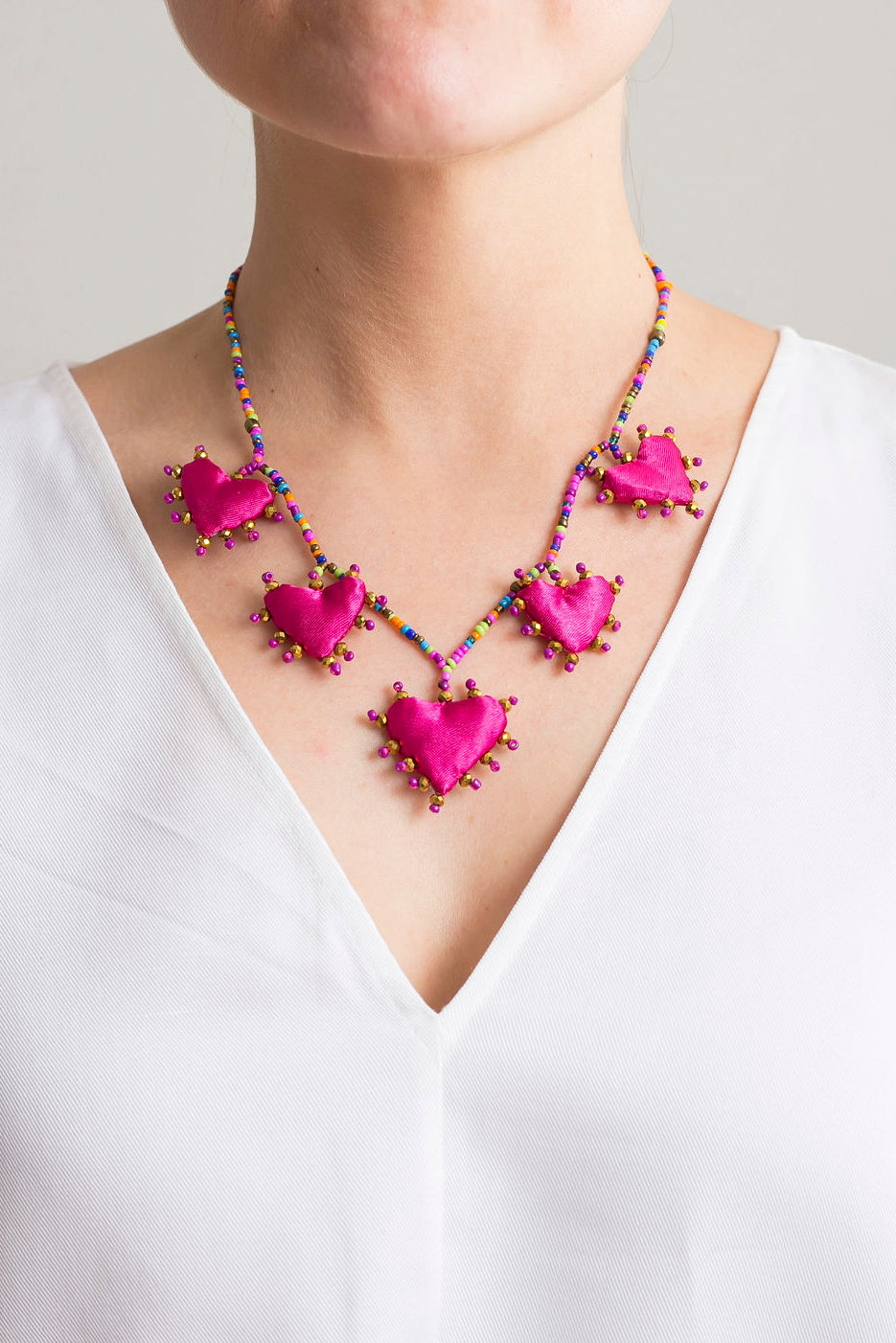 Fiusha Hearts Necklace