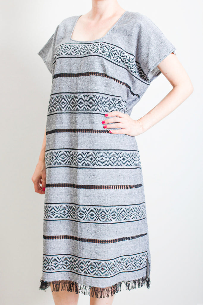 Gray tassel dress