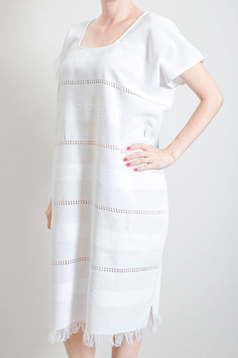 White tassel dress