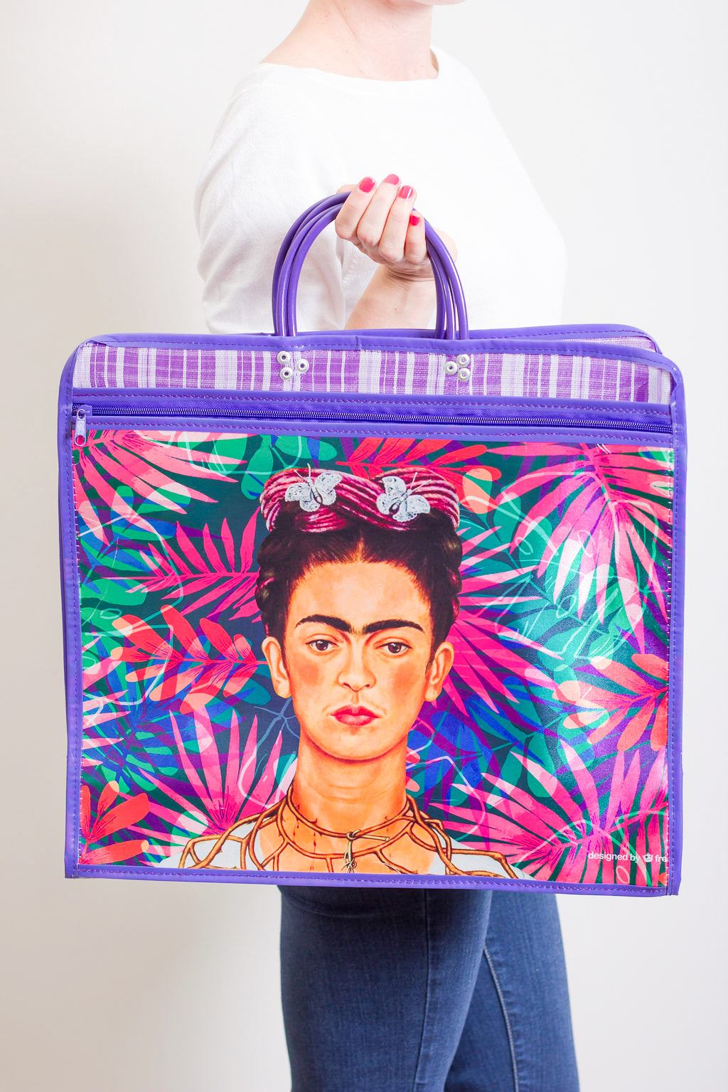 Market Frida purple bag