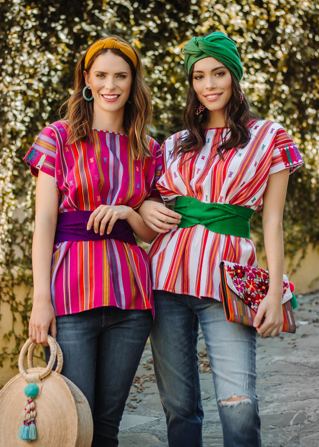 Red and green Pantelho blouse