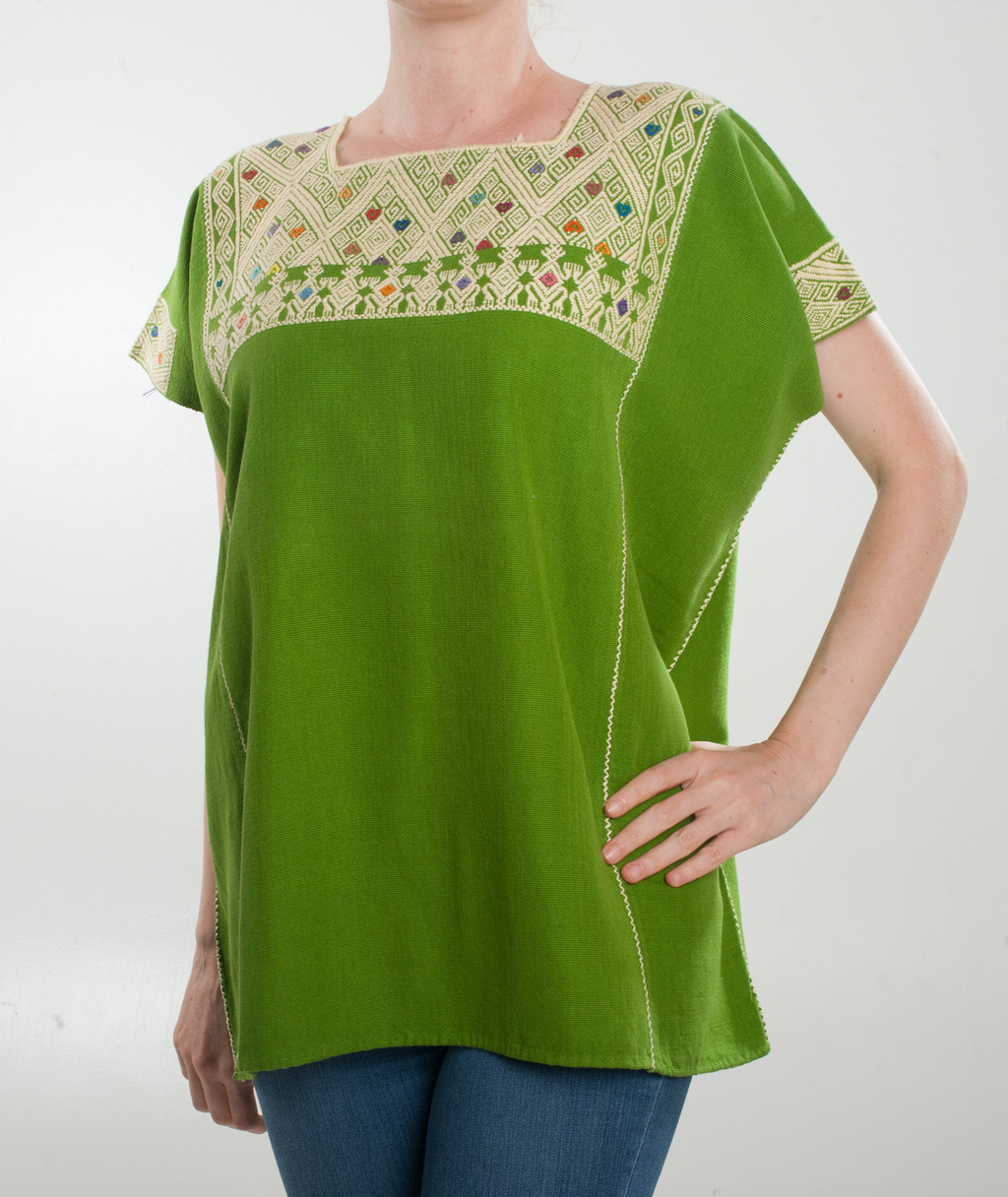 Green San Andres blouse