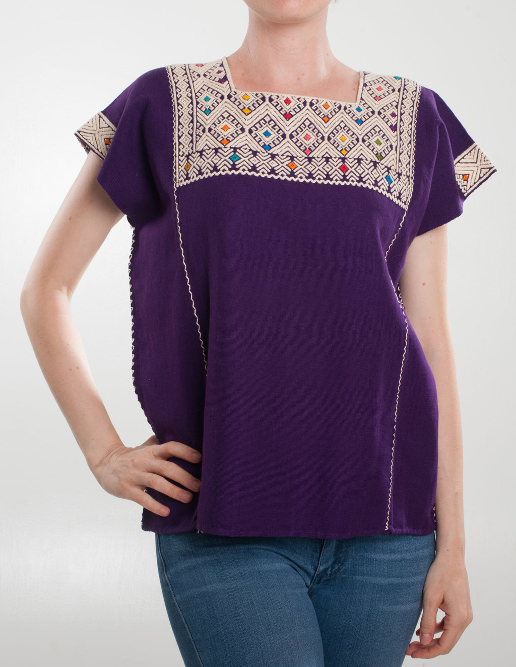 San Andrés purple Blouse