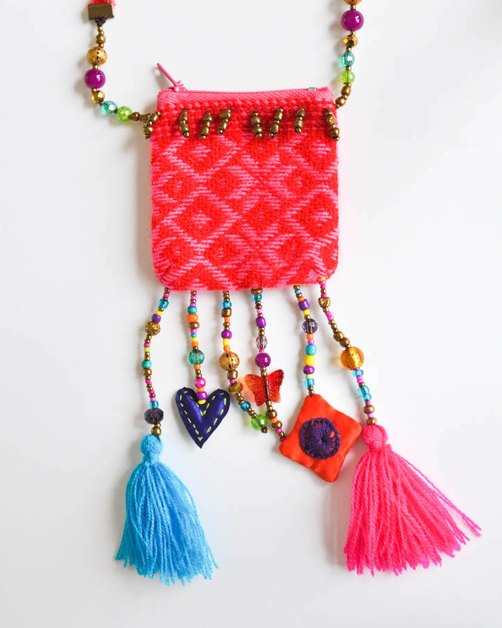 Pink Pouch Necklace