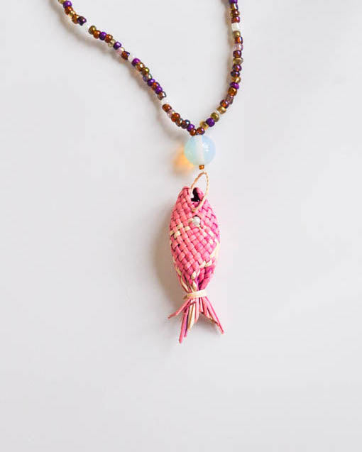 Baby Pink fish Necklace