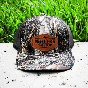 Real Tree Camo Leather Cap