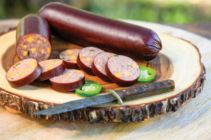 Venison & Pork Summer Sausage and Cheese Gift Set