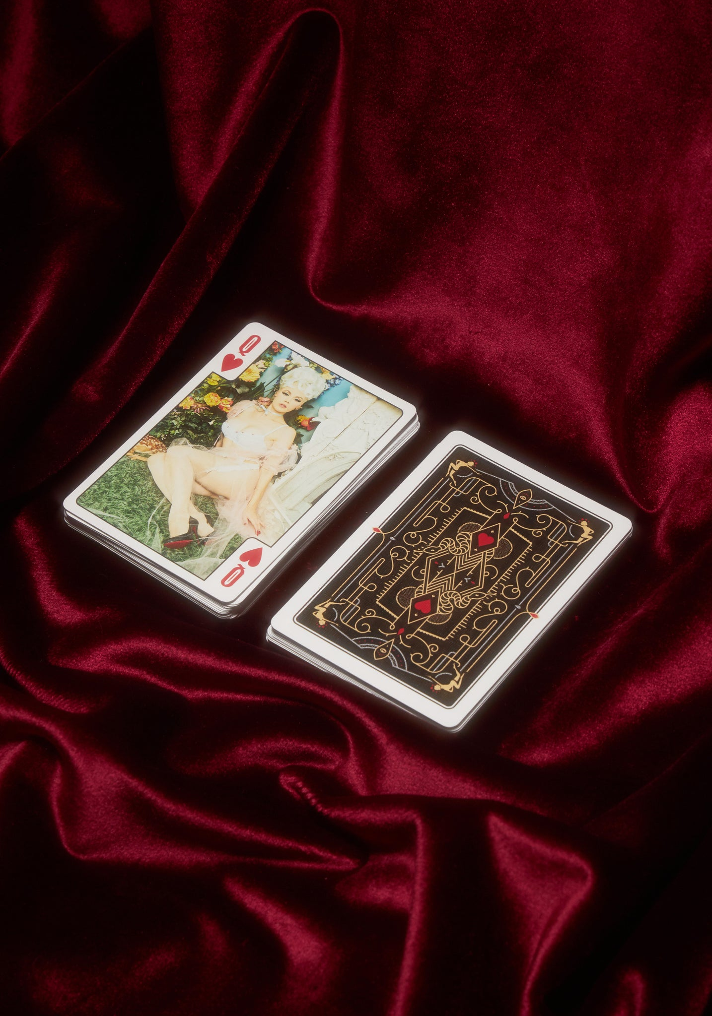 """His & Hers"" Gartered Playing Cards"
