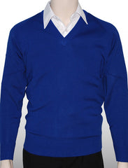 William Shaw Basic 100% Acrylic Pullover - Royal