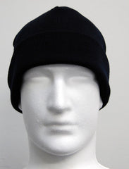 William Shaw Classics 80/20 Wool/Nylon Fold Back Beanie - Navy
