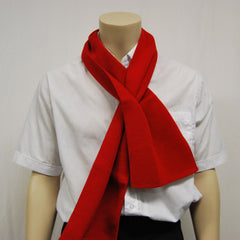 William Shaw Classics 80/20 Wool/Nylon Loop Through Scarf - Red