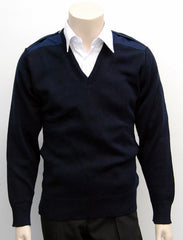 Calcoup Corporate 50/50 Wool/Acrylic Cotton Patch Pullover - Clearance