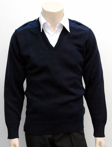 Calcoup Corporate 50/50 Wool/Acrylic Prestalene Patch Pullover - Clearance