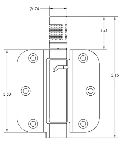 ceasefire door hinge measurements