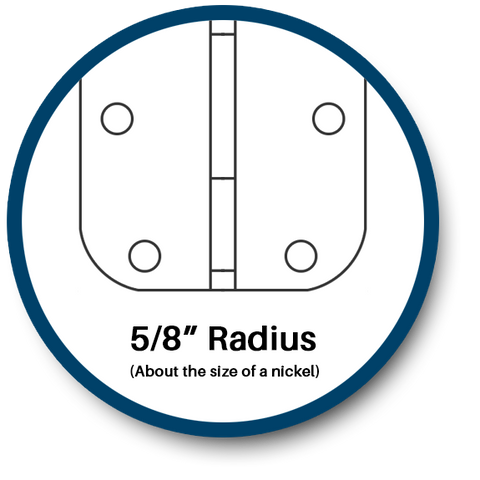 5/8 radius safety hinge