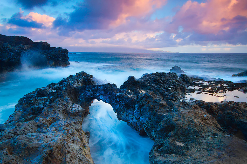 Fine Art Photograph of tropical water at sunrise in Maui Hawaii
