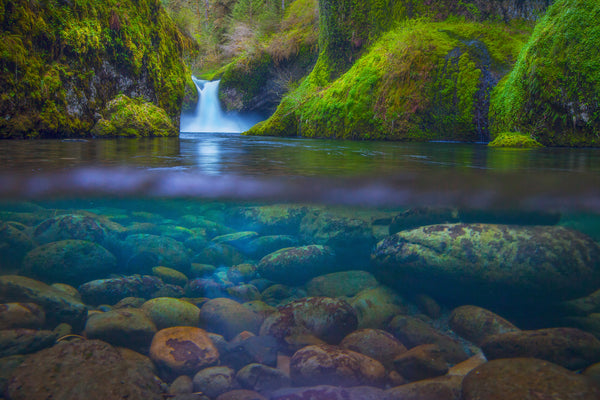 Punchbowl falls oregon by Lijah Hanley.