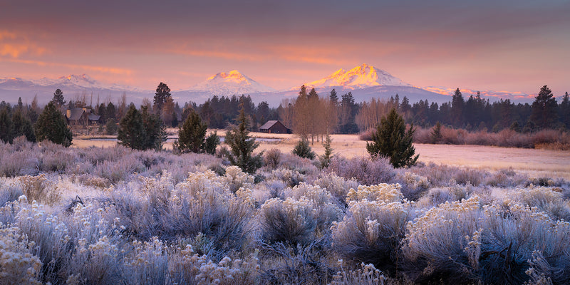 Three sisters sunrise in bend oregon