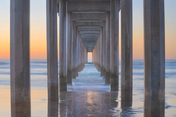 La Jolla California Pier Sunset fine art photography