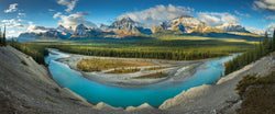 Photograph of the Athabasca river in Jasper National Park in Canada.