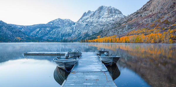 June lake, California and fall colors by Lijah Hanley
