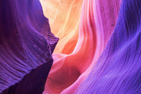 Intense color in Antelope Canyon in Arizona