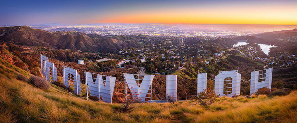 Fine art photography of the Hollywood sign and Los Angeles skyline by Lijah Hanley