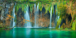 Waterfall in Plitvice National Park in Croatia during Autumn, by Lijah Hanley.