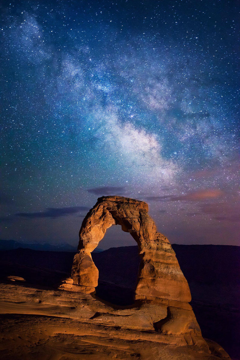 Delicate Arch under the Milky Way in Utah