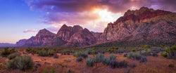 Photograph of Red Rock Canyon at sunset near Las Vegas, Nevada.