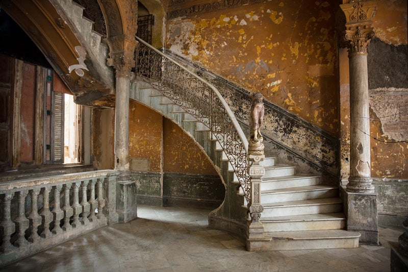 An old staircase in Havana Cuba