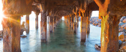 A Photograph taken from under a pier in Lahaina Maui.