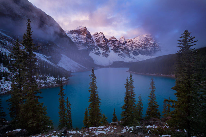 Moraine Lake at sunrise. By Lijah Hanley.