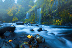 Mossbrae Falls in California