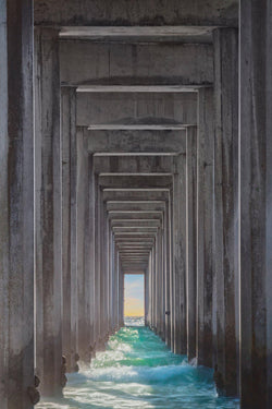 Underneath a pier in La Jolla California