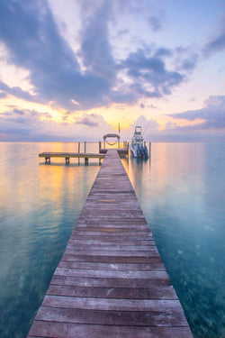 A dock in the Florida Keys at Sunrise