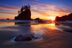 Second Beach at Sunset in Washington