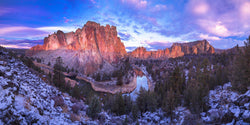 Smith rock state park in Oregon after a dusting of snow. By Lijah Hanley.