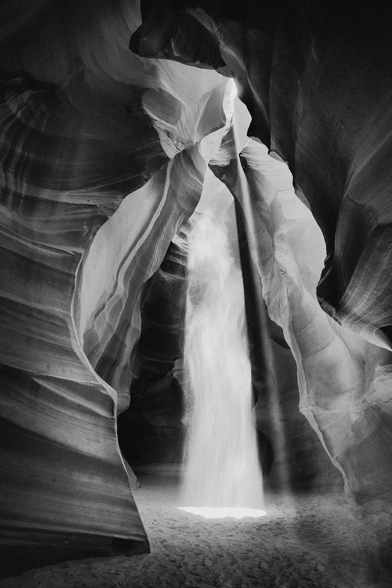 Shafts of light in Antelope canyon in Page Arizona. By Lijah Hanley.