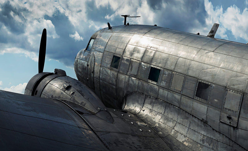 An abandoned DC-3 plane