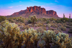 Sunset at Lost Dutchman State Park in Arizona
