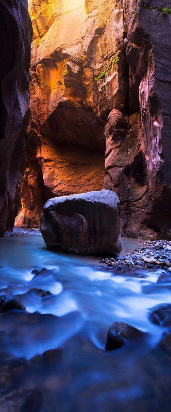 Photograph of the narrows in zion national park in utah.