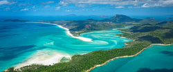 Aerial photograph of White Haven Inlet from a helicopter in the Whitsundays, Australia.