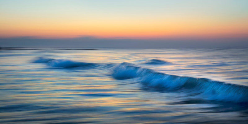 Waves in south Carolina at sunrise by Lijah Hanley.