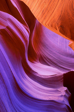 Colors in Antelope Canyon in Arizona