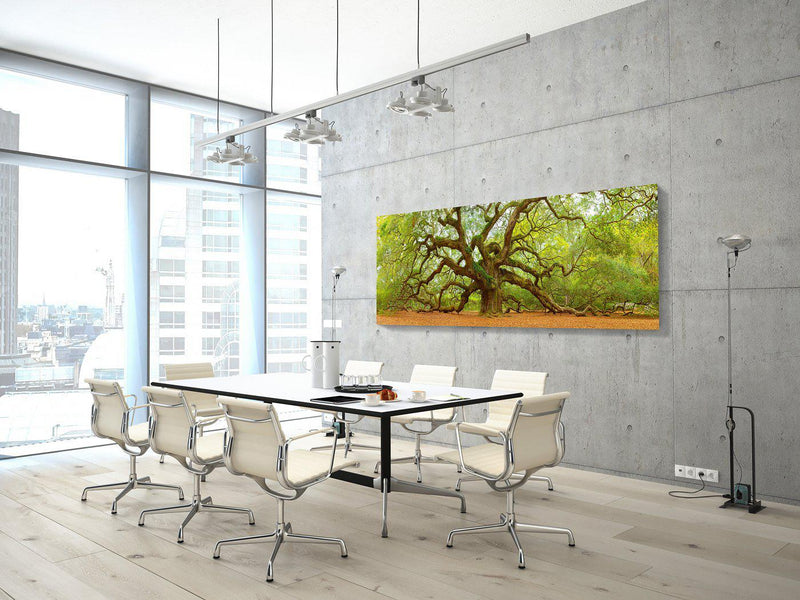 Installation preview of a fine art print of the Angel Oak Tree.