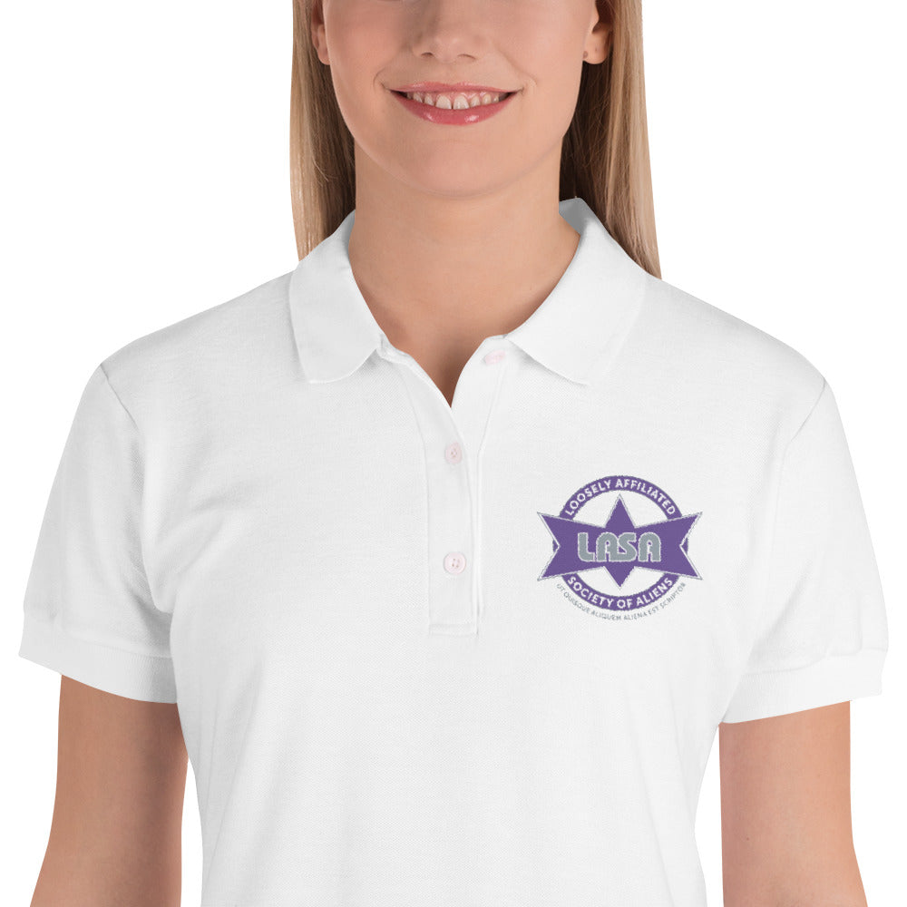 LASA Embroidered Women's Polo Shirt