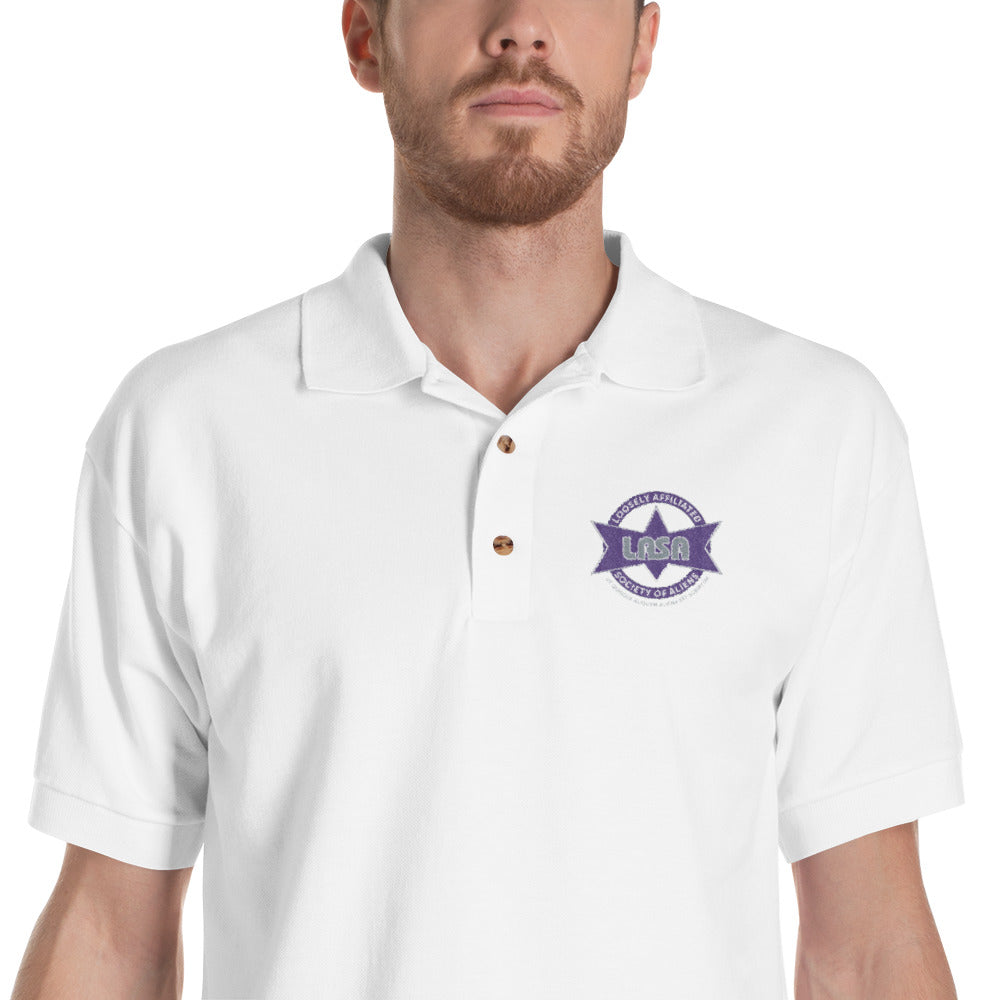 LASA Embroidered Men's Polo Shirt