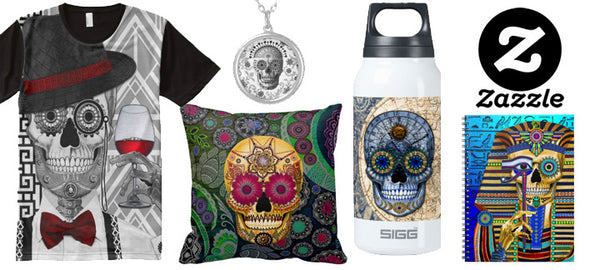 Pop Dead Gorgeous - Sugar Skull Art Gifts and Accessories by Christopher Beikmann from Zazzle